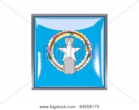 Square Icon With Flag Of Northern Mariana Islands