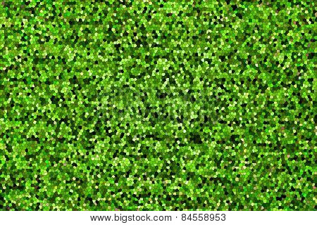 Abstract Texture Mosaic Of Green Color