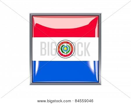 Square Icon With Flag Of Paraguay