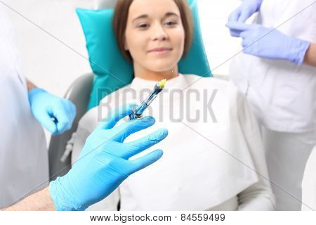 Anesthesia, a visit to the dentist