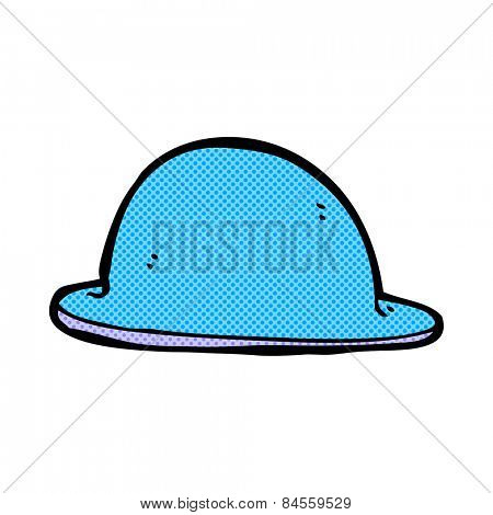 retro comic book style cartoon red bowler hat