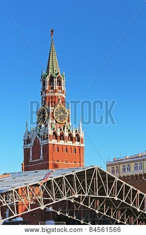 Spaska Tower Of The Moscow Kremlin, Russia