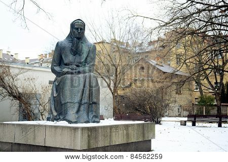 Monument To Zemaite  (1845-1921) - Lithuanian Writer