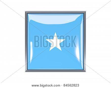 Square Icon With Flag Of Somalia