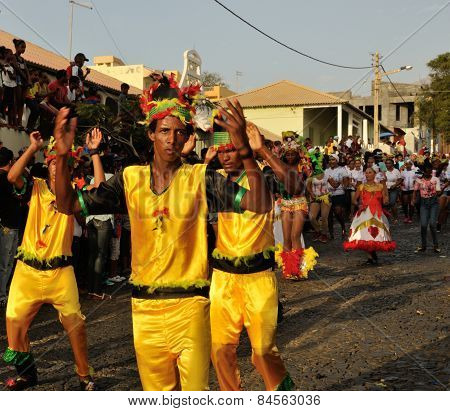 Men Dancing at Carnival