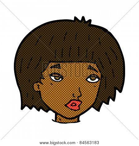 retro comic book style cartoon bored looking woman