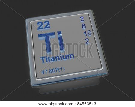 Titanium. Chemical element. 3d