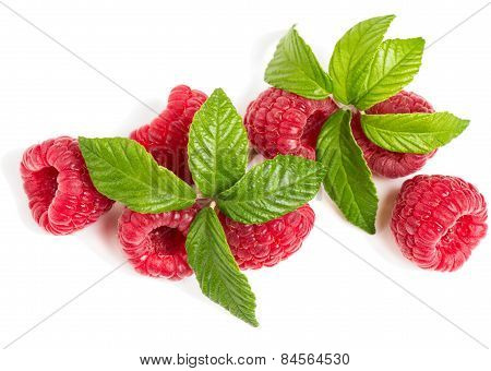 Top View Of Raspberry