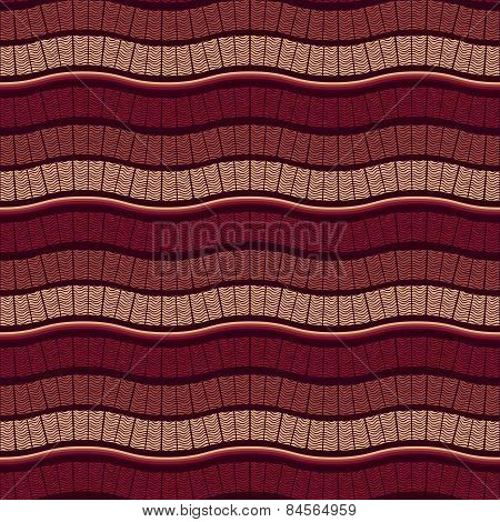 Vector Seamless Wavy Marsala Pattern