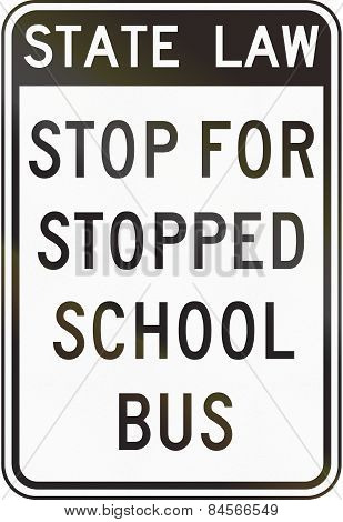 Stopped For Stopped School Bus