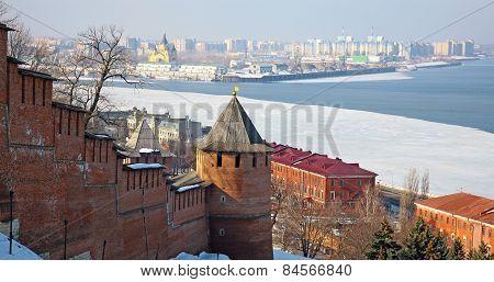Nizhny Novgorod Kremlin In Spring Morning