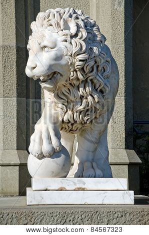 Sculpture Of A Lion In The Vorontsov Palace