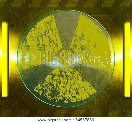 radiation sign, a spark