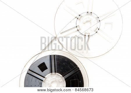 Vintage 8Mm Movie Reels White Background