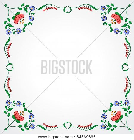 Hungarian Embroidery Frame With Floral Decoration