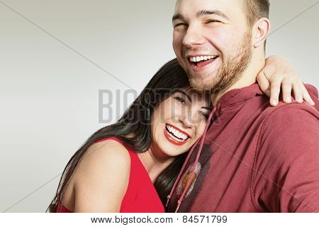 Happy couple. Man and woman.