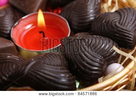 Candle Around Chocolates - Retro Style