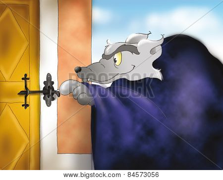 Big bad wolf at granny's house