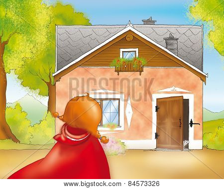 Red riding hood at granny's home