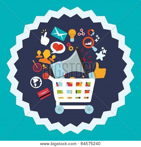 Shopping Design, Vector Illustration.