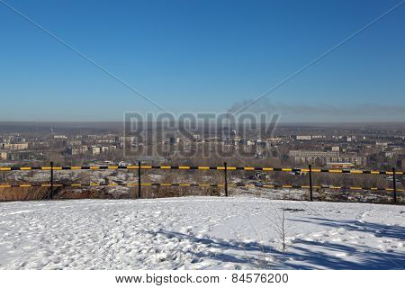 The view from the observation deck on the mountain High Nizhny Tagil. Sverdlovsk region. Russia.