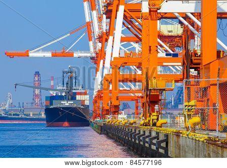 Cargo freight ship
