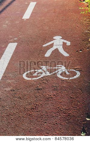 Bicycle And Pedestrian Paths Signs