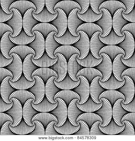 Monochrome illusion - abstract seamless pattern