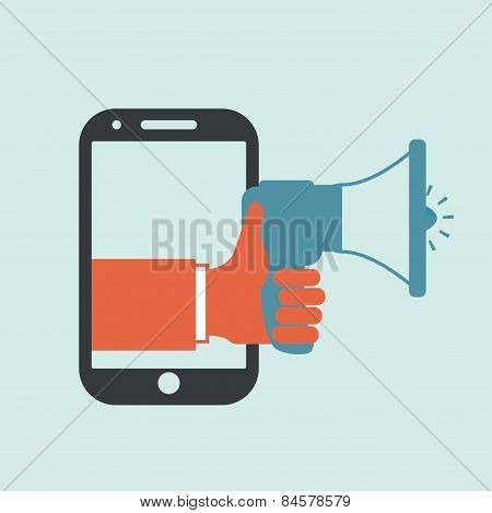 Bullhorn design, vector illustration.