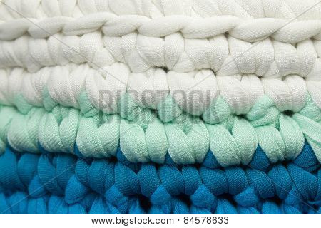 part of crochet rug
