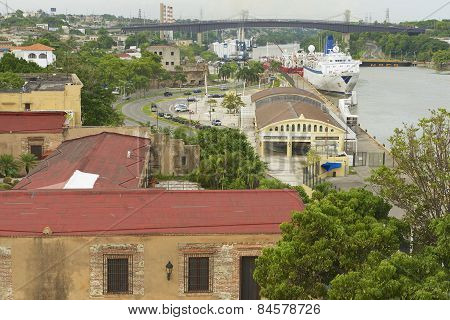 View from the Ozama Fortress to the Ozama river side in Santo Domingo.