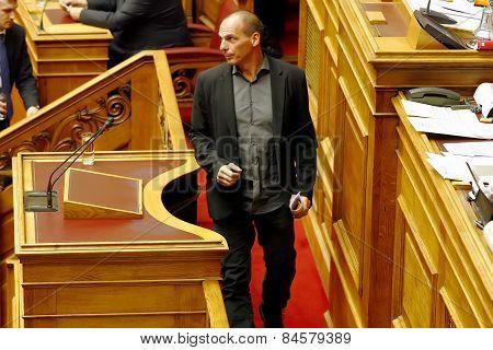 Finance Minister Yanis Varoufakis Of Greece