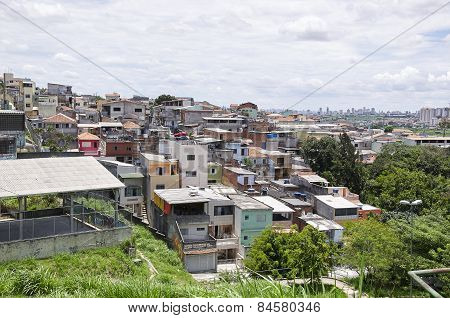 Poverty In The Favela Of Sao Paulo City