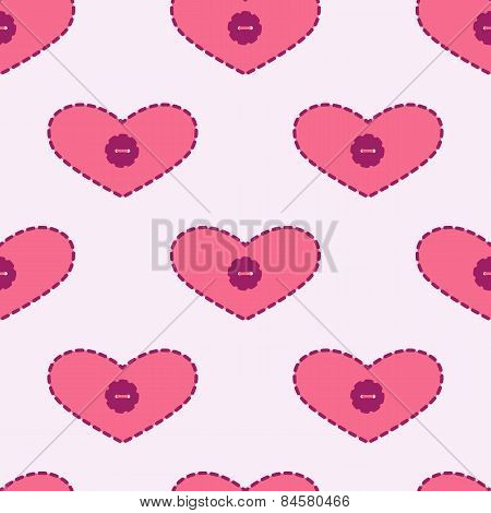 Background With Applique Hearts