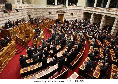 Greek Parliament Session