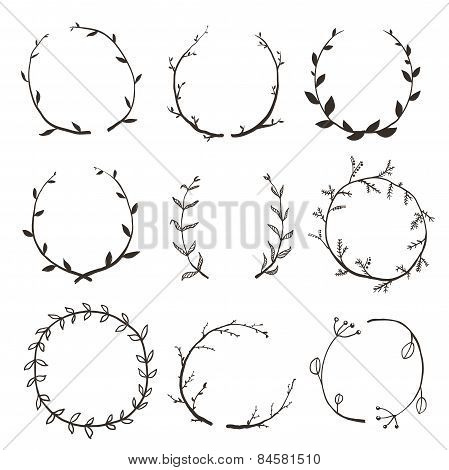 Rustic Laurel and Wreath Collection for Design