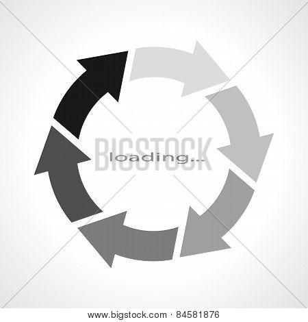 Loading vector symbol