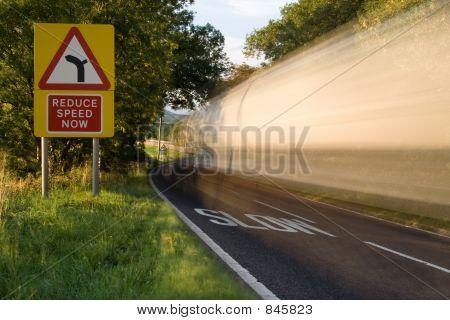 Speeding wagon,long exposure