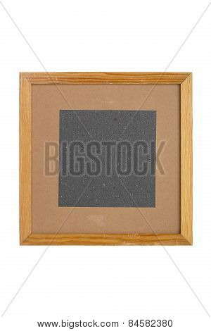 Squared Old Picture Frame With Cardboard Matte, Isolated On White