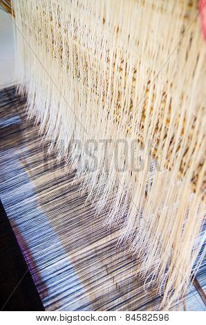 Thread On The Traditional Weaving Machine