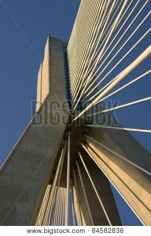 the Rio-Antirrio bridge pillar 1