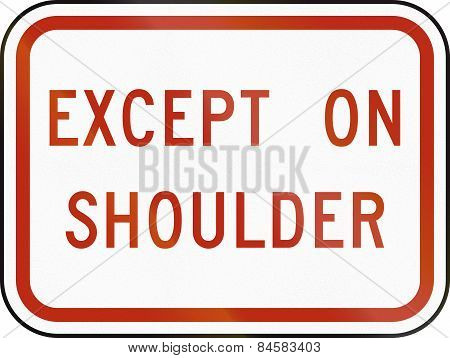 Except On Shoulder