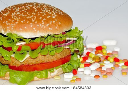 Fast Food And Pills