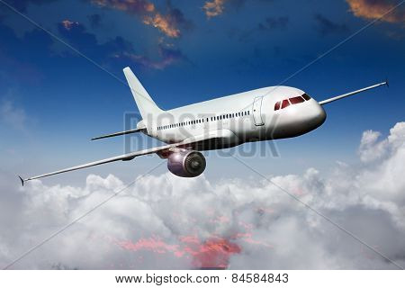 aircraft airliner airplane in the sky