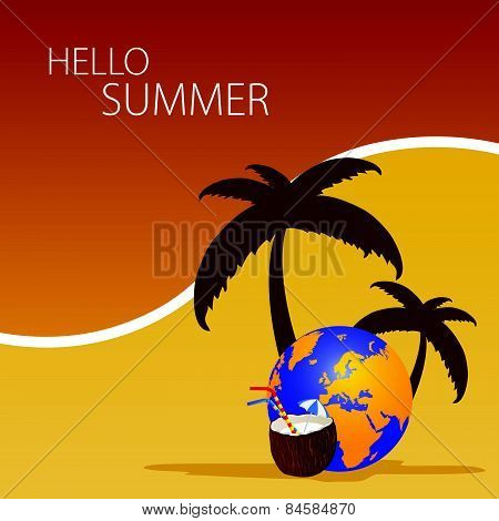 Hallo Summer Color Vector
