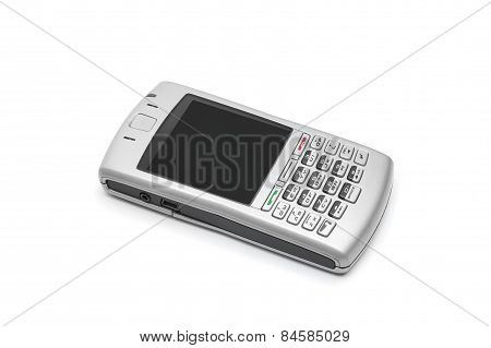 Smart Phone With Qwerty Keyboard On An Isolated White Background