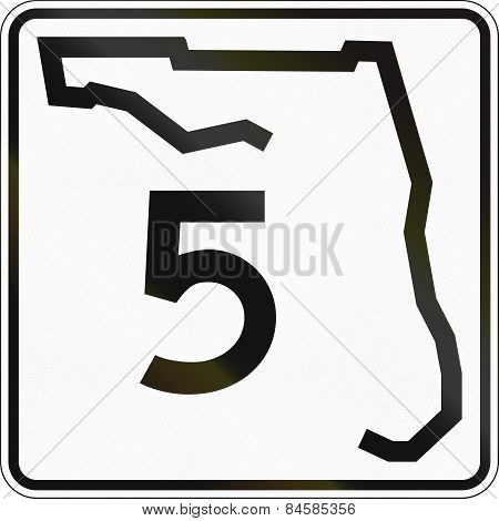 State Highway Shield Florida