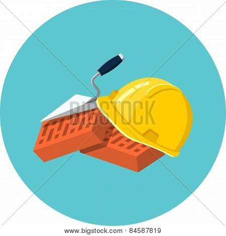 Helmet Bricks and Trowel
