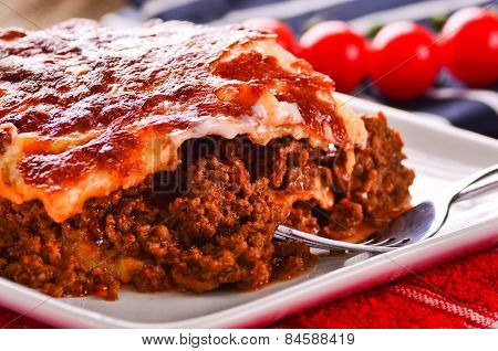 Fresh Home Cooked Lasagne