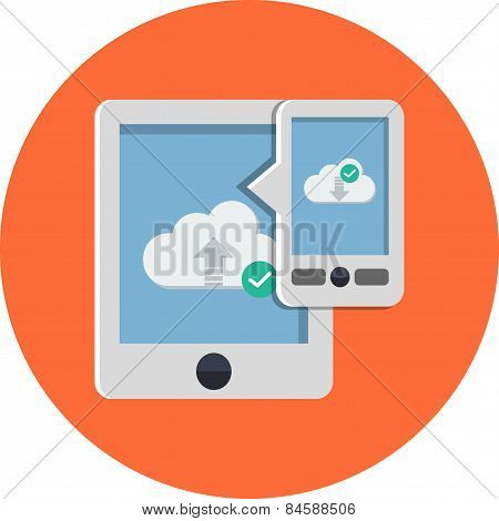 Cloud Computing with Tablet PC Downloading and Uploading Data
